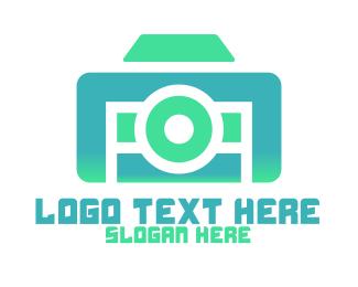 Vlogger - Abstract Modern Camera logo design