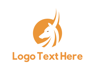 Elk - Yellow Antelope logo design