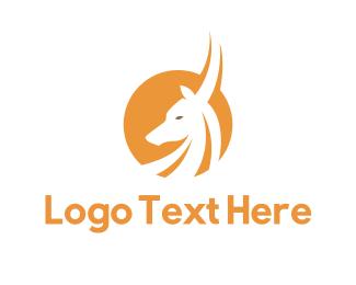 Reindeer - Yellow Antelope logo design