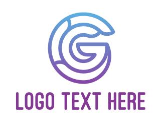 Purple - Purple Letter G logo design