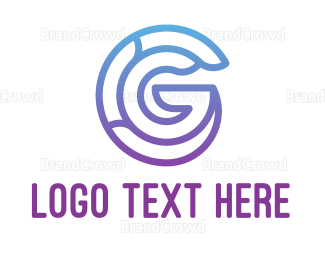 Blue And Purple - Purple G logo design