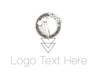 High Tea - Tulip & Orchid logo design