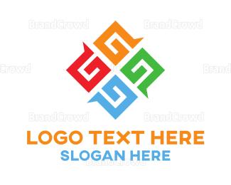 Social - G Diamond logo design