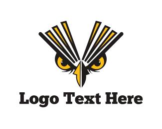 Bird Of Prey - Owl Eyes logo design