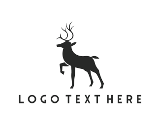 Antlers - Elegant Deer logo design