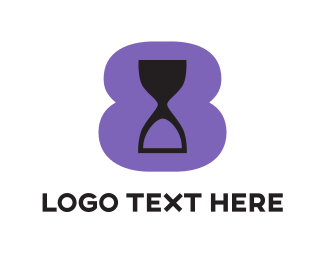 Hourglass - Purple Hourglass logo design