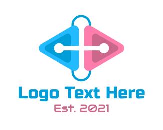 Paper Clip - Modern Gaming Clip logo design