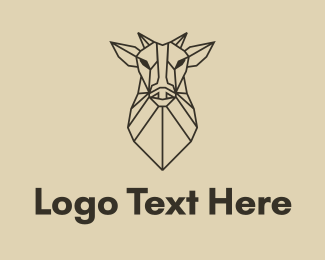 Farmland - Geometric Minimal Animal logo design