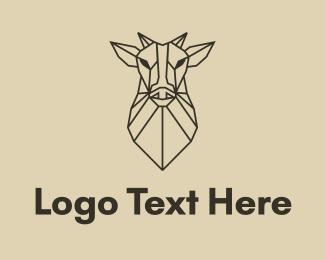 Brand - Geometric Minimal Animal logo design