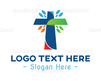 Congregation - Multicolor Cross logo design