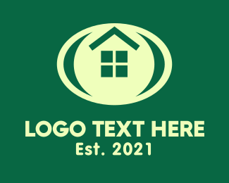 Oblong - Oval Window Housing logo design