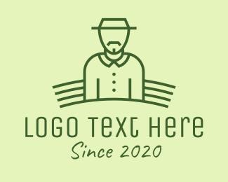 Crops - Organic Farmer logo design