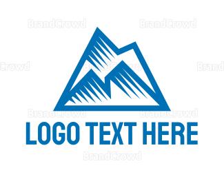 Iceberg - Blue Polygon Mountain logo design