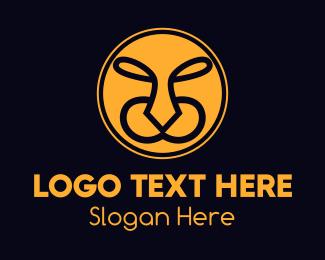 Puma - Yellow Wild Tiger  logo design