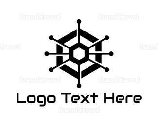 Computer Engineer - Geometric Circuit logo design