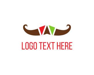 Colorful Mustache Logo
