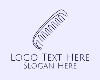 Hair Salon - Barber Hair Art Comb logo design