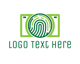 Biometric - Fingerprint Camera logo design