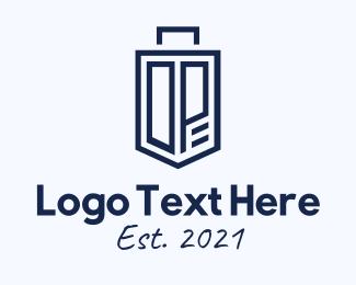 Suitcase - Blue Suitcase Lettermark logo design