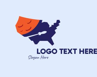 Space - American Space Exploration logo design