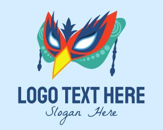 Bisexual - Festive Bird Mask logo design