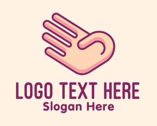 Language - Number Four Hand Gesture  logo design
