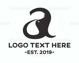 Amazing - Elephant Letter A logo design