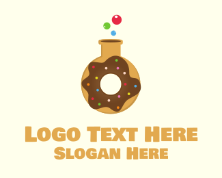 Laboratory Flask - Donut Lab logo design