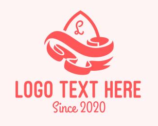 Pageant - Curvy Ribbon Lettermark  logo design