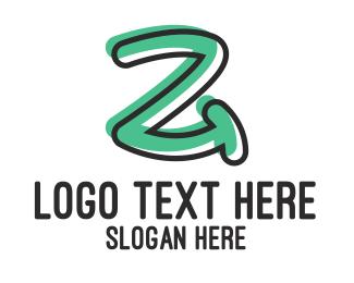 Childish - Handwritten Letter Z logo design