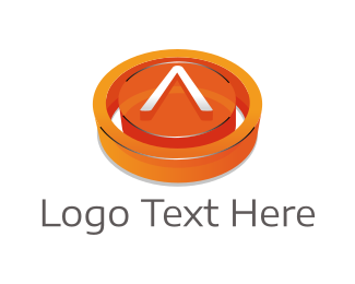 Button - Button Letter A logo design