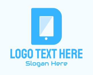 Mobile Tablet - Mobile Device Letter D  logo design