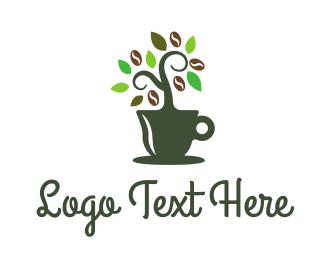 Mug - Green Plant Mug logo design