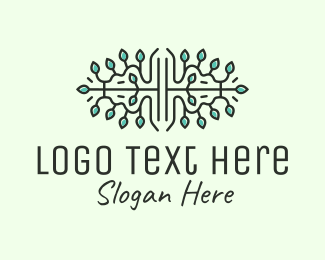 Seeding - Leaves Ornament Line Art logo design