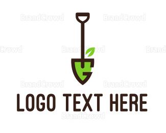 Letter G - Shovel Letter G logo design