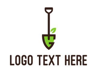 Shovel - Shovel Letter G logo design