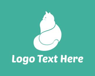 White Cat  Logo