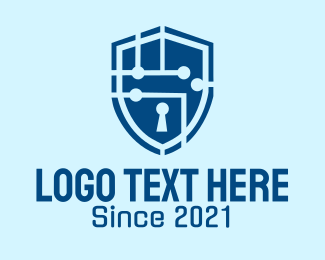 Secure - Cyber Security Shield logo design