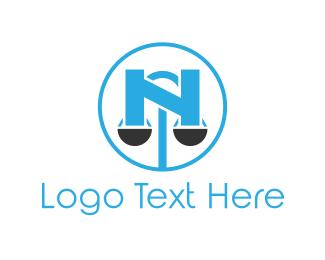 Scale Letter N Logo