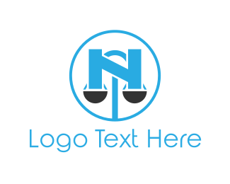 Scale - Scale Letter N logo design