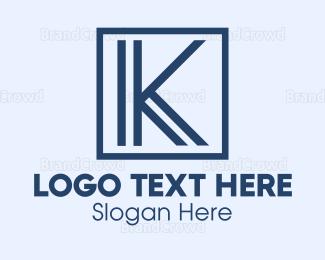 Letter K - Black Letter K logo design