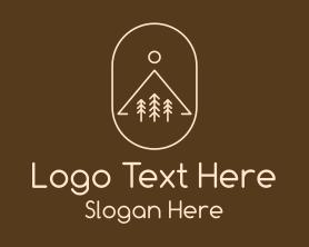 Hiking - Minimalist Outdoor Hiking logo design