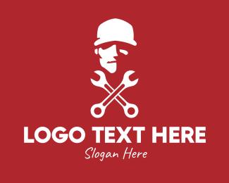 Hipster - Hipster Mechanic Guy logo design