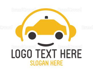 Smiling - Yellow Cab Driver logo design