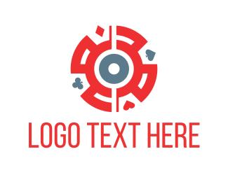 Blackjack - Card Symbols logo design