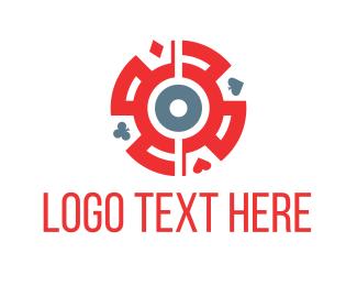 Casino - Card Symbols logo design