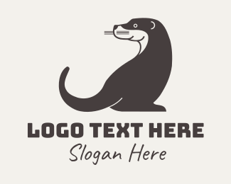 Animal Rehabilitation - Otter Animal logo design
