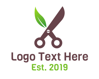 Cut - Eco Cut logo design