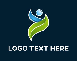 Nutrition - Eco Person logo design