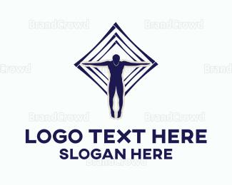 Man - Flying Man logo design
